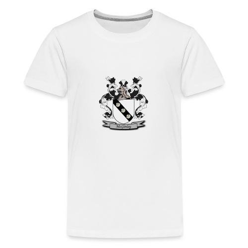 McGinley Family Crest - Teenage Premium T-Shirt