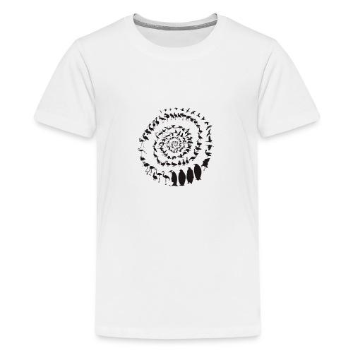 Wasservogelvögel in einer Spirale - Teenager Premium T-Shirt