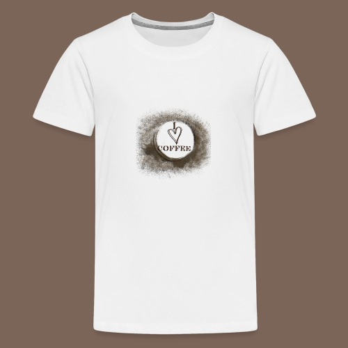 I Heart Coffee - Teenage Premium T-Shirt