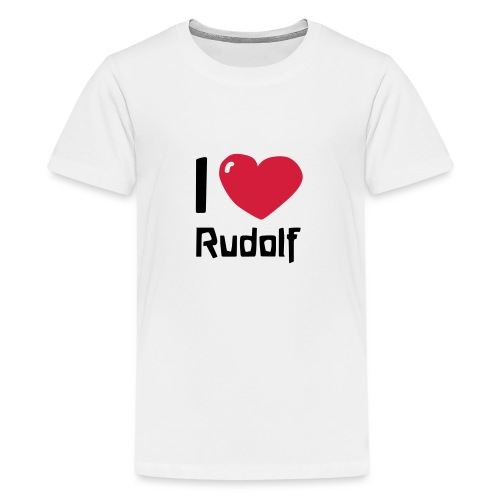 I love Rudolf - Teenager Premium T-Shirt