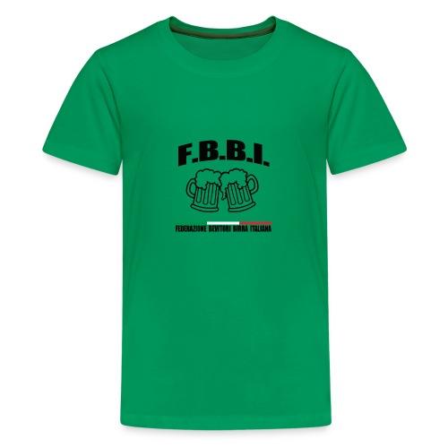 FBBI LOGO NERO - Maglietta Premium per ragazzi