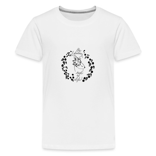 The blueberry side of life bunny - Teenager Premium T-Shirt