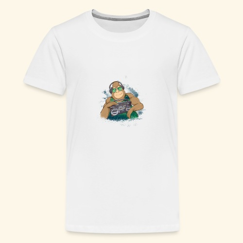Gorilla Jungle Hiphop - Camiseta premium adolescente