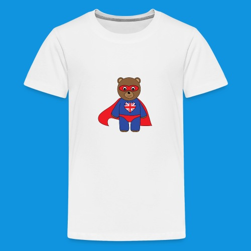 British Hero Bear tank - Teenage Premium T-Shirt