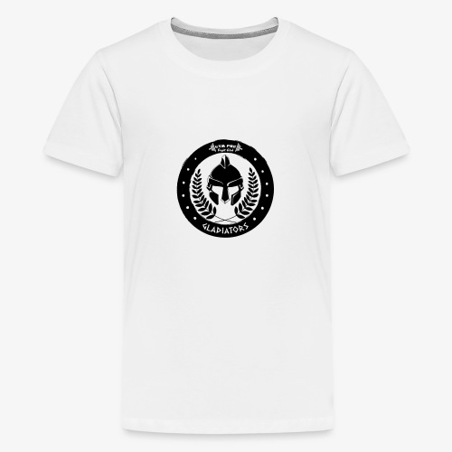 Gym Pur Gladiators Logo - Teenage Premium T-Shirt