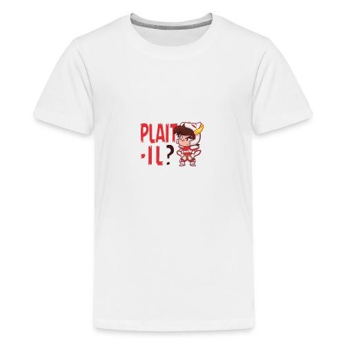 Seiya vous dit Plaît-il ? (texte rouge) Tee - T-shirt Premium Ado