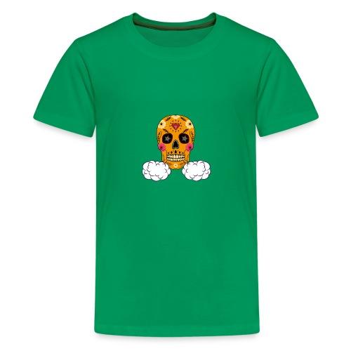 skul orange png - T-shirt Premium Ado