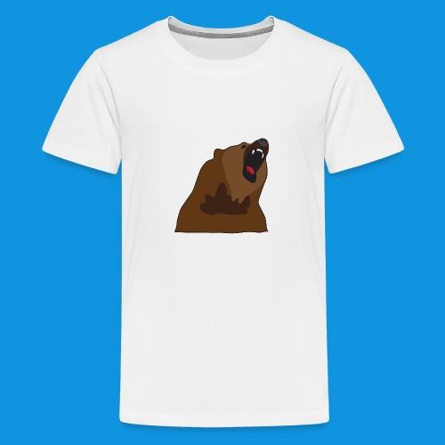 Growling Bear - Teenage Premium T-Shirt
