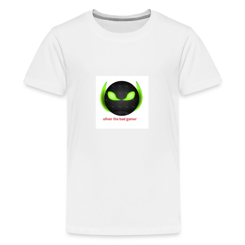 oliver_the_bad_gamer-png - Premium-T-shirt tonåring