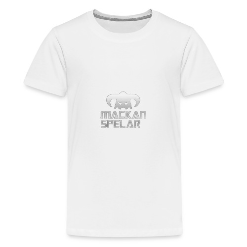 Mackanspelar 5/5s skal vit - Premium-T-shirt tonåring