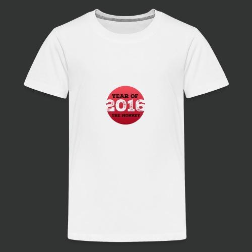 2016 year of the monkey - Teenage Premium T-Shirt