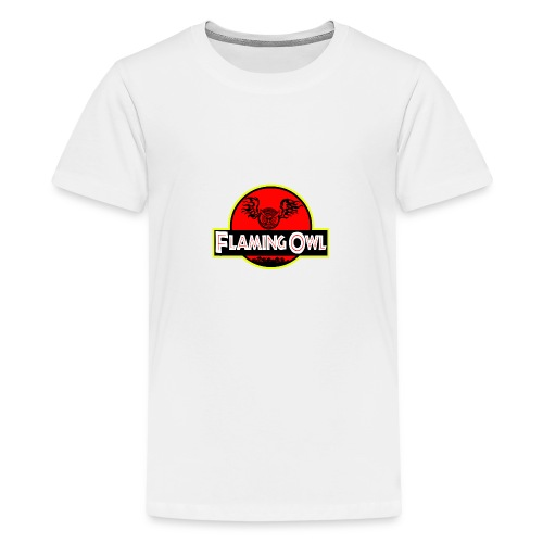 Flaming Jurassic Owl - Premium-T-shirt tonåring