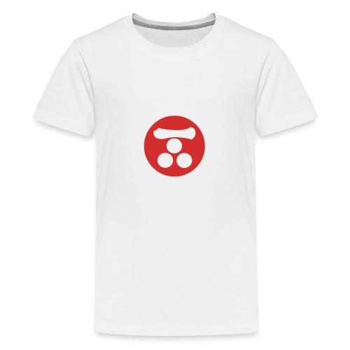 Mori Mon Japanese samurai clan in red - Teenage Premium T-Shirt