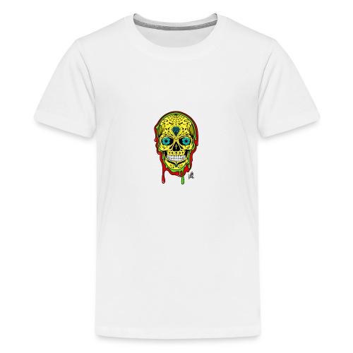 Dipped Sugar Skull - Teenage Premium T-Shirt