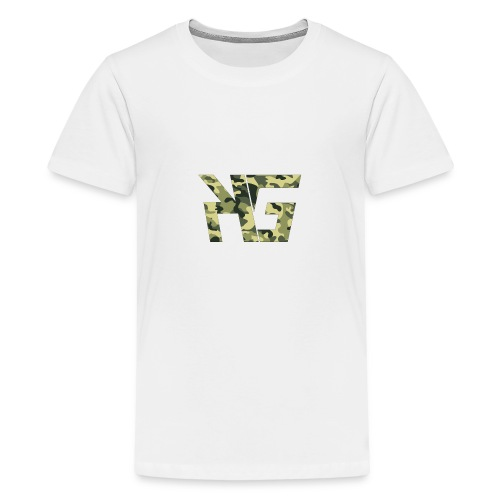 KG Forest Camo - Teenage Premium T-Shirt