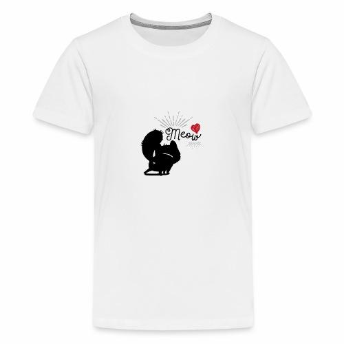 gatto meow - Maglietta Premium per ragazzi