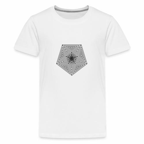 Pentagramm einfach - Teenager Premium T-Shirt