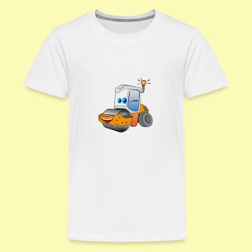 Baumaschine Straßenwalze Erdbau Bauarbeiter - Teenager Premium T-Shirt