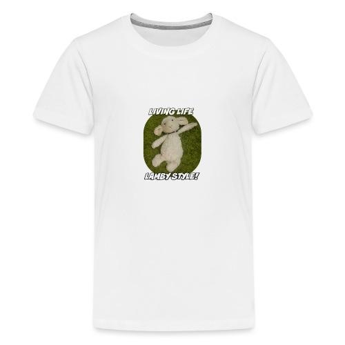 Lamby Mug - Teenage Premium T-Shirt