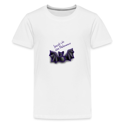 bunt wie eine Fledermaus - Teenager Premium T-Shirt