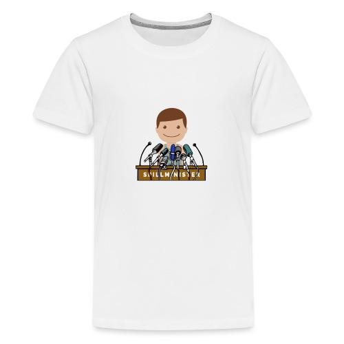 Spillminister logoen - Premium T-skjorte for tenåringer