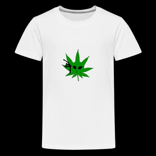 Alien Weed - Teenage Premium T-Shirt