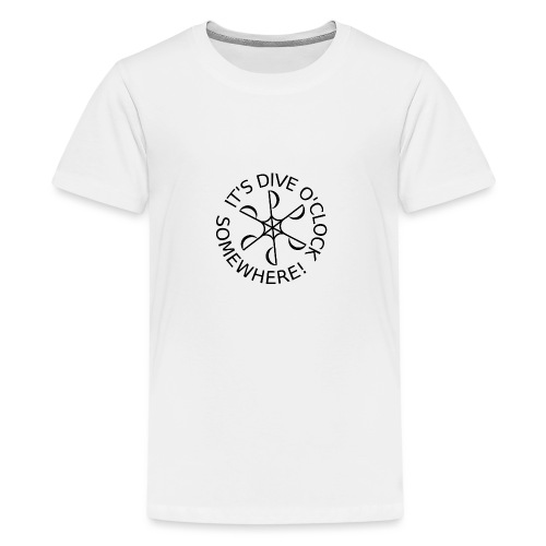 Dive o clock Black - Teenage Premium T-Shirt