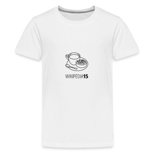 Fika, figursydd, vit - Premium-T-shirt tonåring