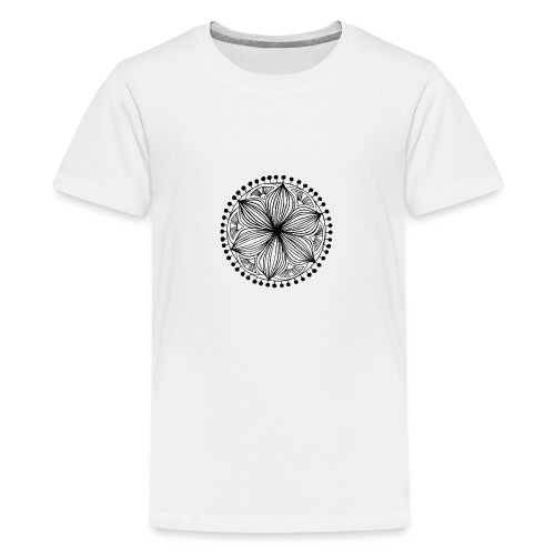 Black Frankie Mandala - Teenage Premium T-Shirt