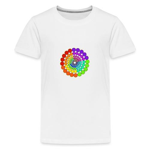 Rainbow Spectrum Mandala - Teenage Premium T-Shirt