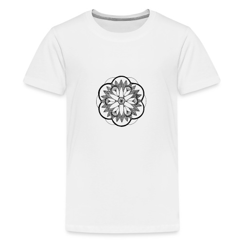 Pond Bouquet Mandala - Teenage Premium T-Shirt