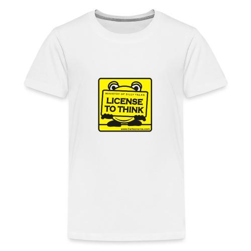 Licence to Think - Teenage Premium T-Shirt