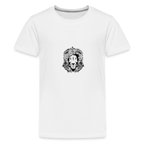 lion black on white - Teenage Premium T-Shirt