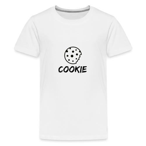 La galleta _-_ Negro _-_ galleta - Camiseta premium adolescente