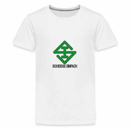 scheisse_einfach_logo_txt - Teenager Premium T-Shirt