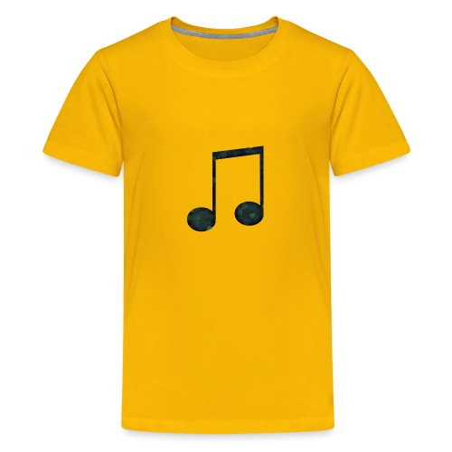 Low Poly Geometric Music Note - Teenage Premium T-Shirt