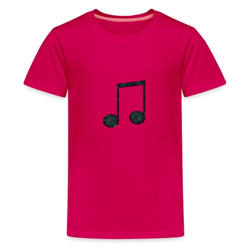 Low Poly Geometric Music Note - Teenage Premium T-Shirt