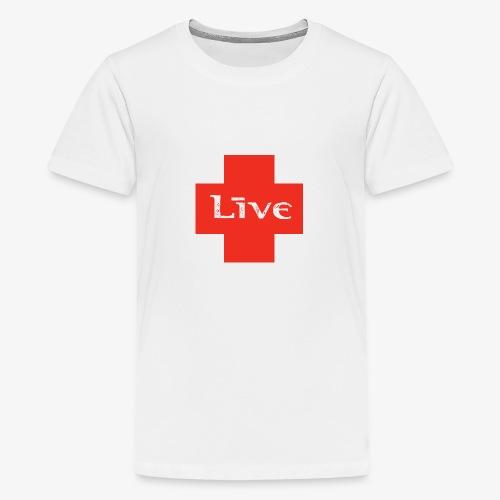 live cross HR png - Teenager Premium T-shirt