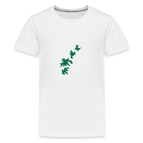 Green Leaves - Teenager Premium T-Shirt