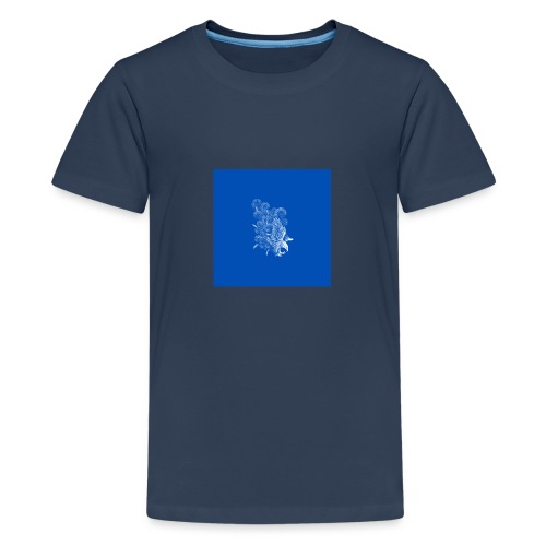 Windy Wings Blue - Teenage Premium T-Shirt