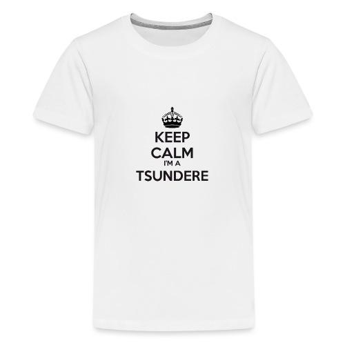 Tsundere keep calm - Teenage Premium T-Shirt