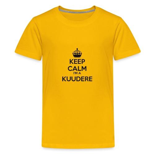 Kuudere keep calm - Teenage Premium T-Shirt