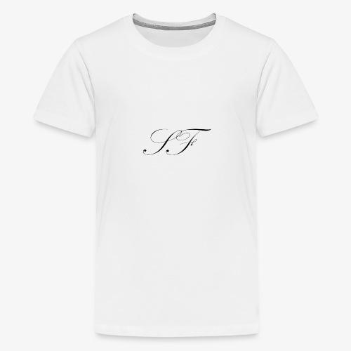 SF HANDWRITTEN LOGO BLACK - Teenage Premium T-Shirt