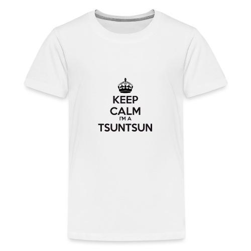 Tsuntsun keep calm - Teenage Premium T-Shirt