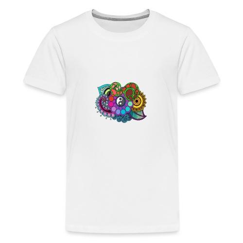 Coloured Nature Mandala - Teenage Premium T-Shirt