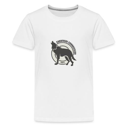 Fleischfresser - Grillshirt - Der mit dem Wolf heu - Teenager Premium T-Shirt