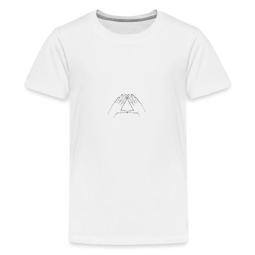 Hand Triangle Hoodie Women - Teenager Premium T-Shirt