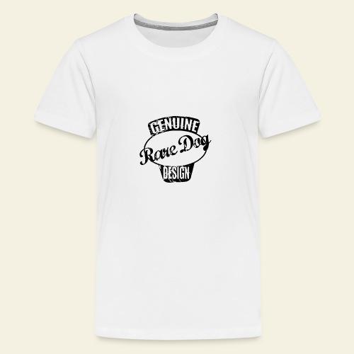 raredogdesign black - Teenager premium T-shirt
