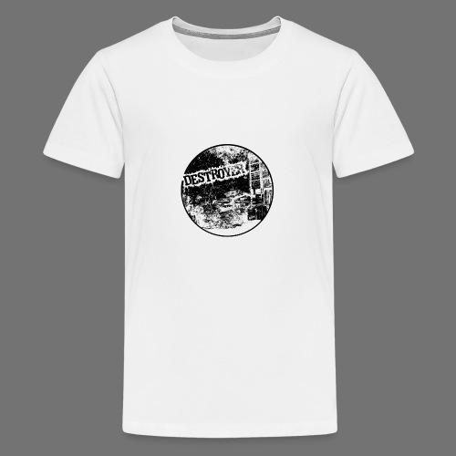 Destroyer musta - Teinien premium t-paita