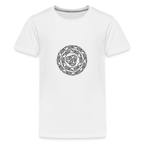 Triquetra circles - Teenage Premium T-Shirt